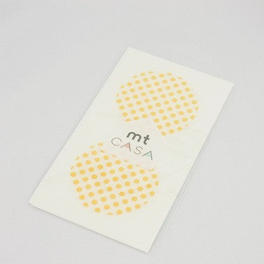Masking Tape Round Seals - Dot Apricot
