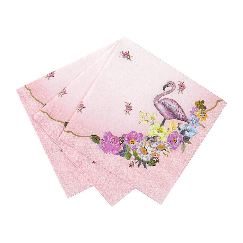 Truly Flamingo Floral Napkins