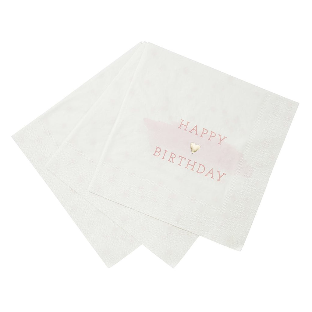 'We Heart Pink' Napkins