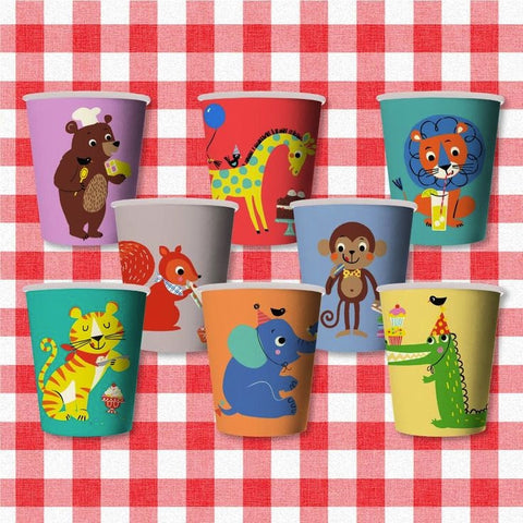 Party Animals Paper Cups