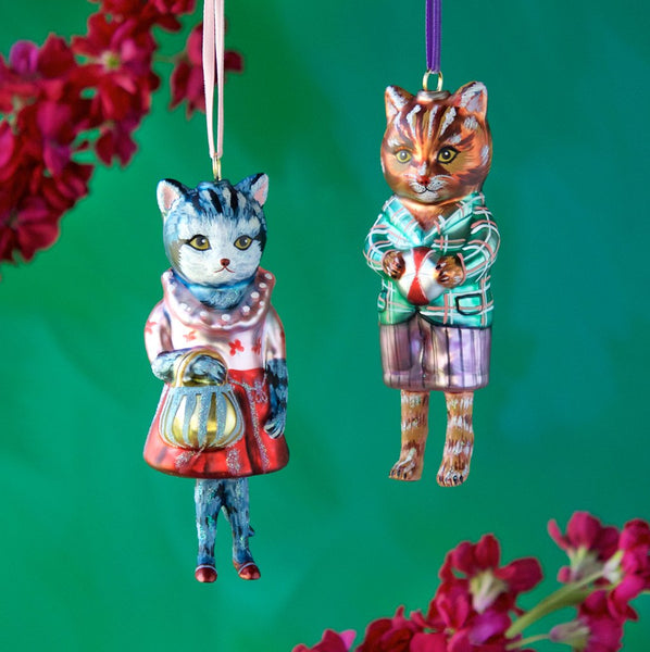 Dressed Cat Ornaments