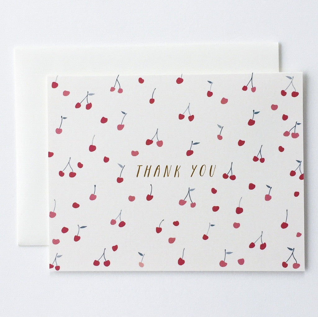Cherries Thank You Cards - Boxed Set of 6