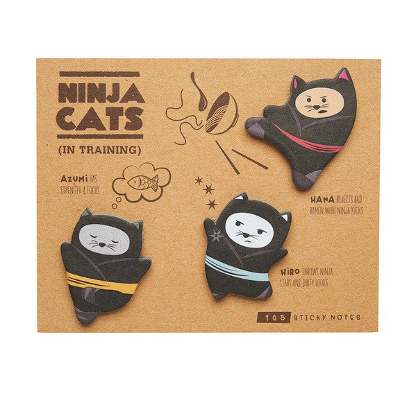 Ninja Cats Sticky Notes