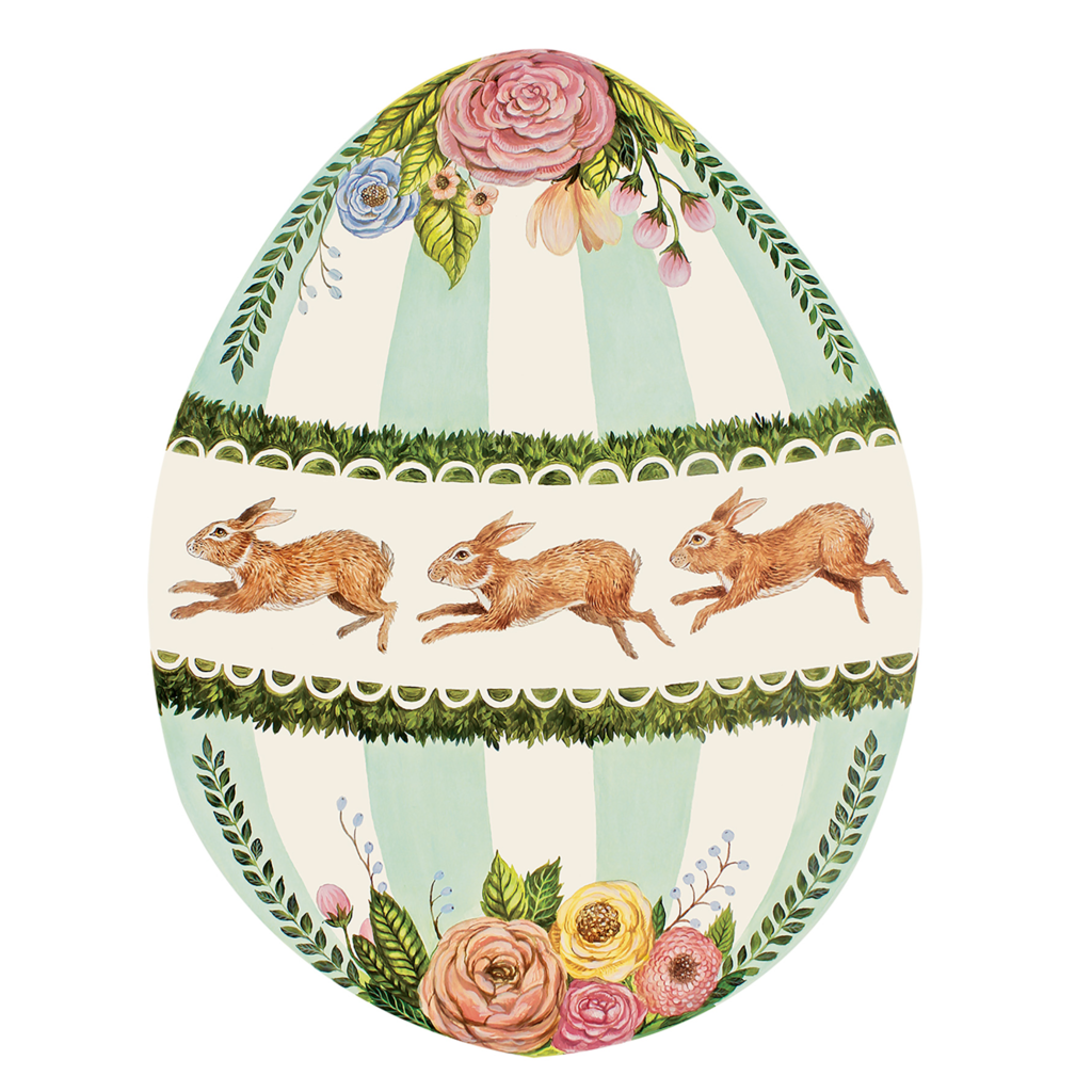 Boxwood Bunny Egg Placemats