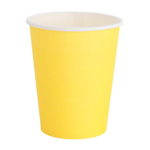 Bright Yellow Cups