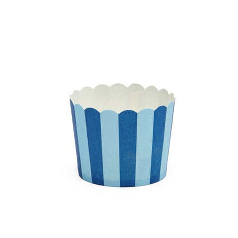 Blue Stripes Baking Cups