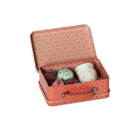 Suitcase with Cupcakes and Cups