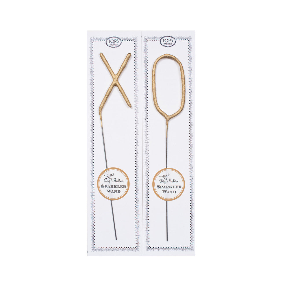 Big Golden Sparkler Wands 'XO'