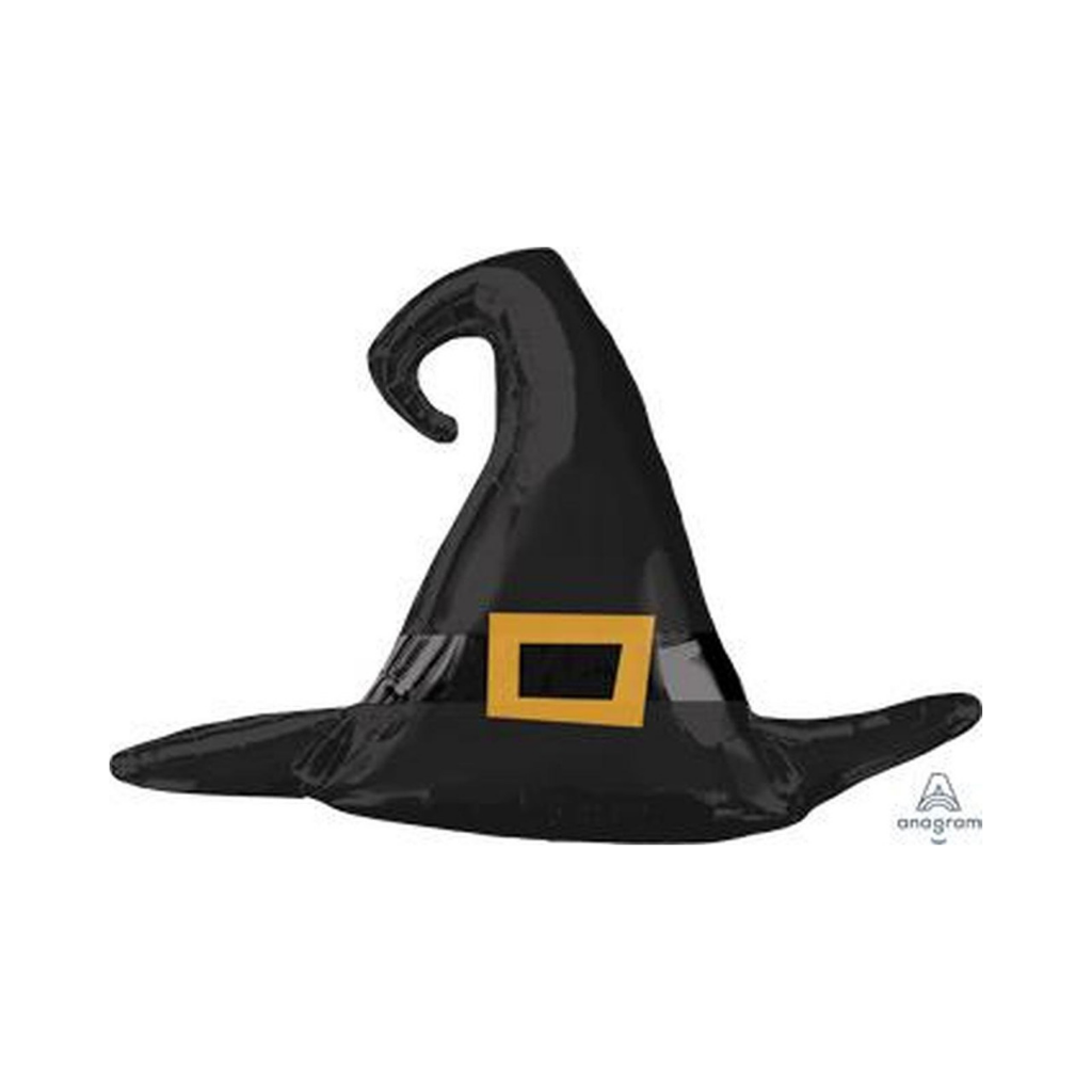Black Witch Hat Mylar Balloon