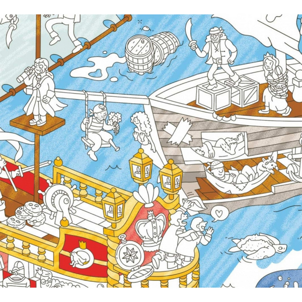 Giant Pirates Coloring Poster