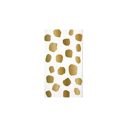 Gold Foil Dot Guest Towel