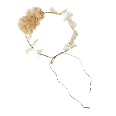 Princess Pom-Pom Head Tie - Gold