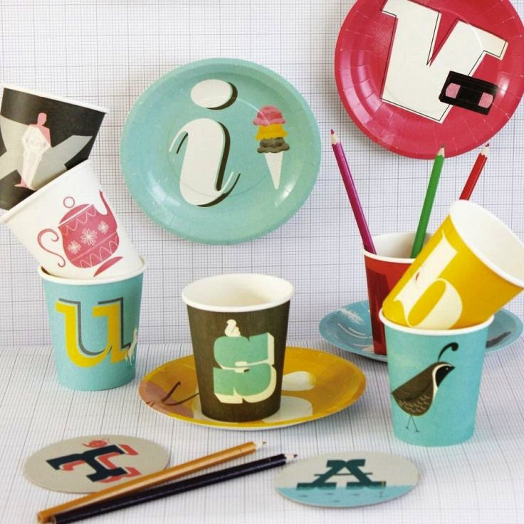 A to Z Paper Plates