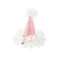 Pink Tulle Mini Party Hats