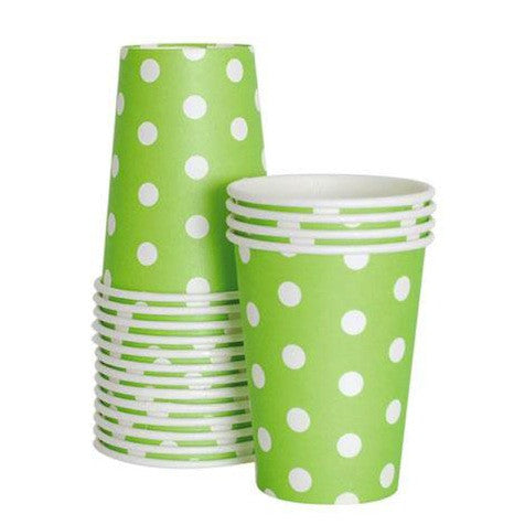 Apple Green Paper Cups