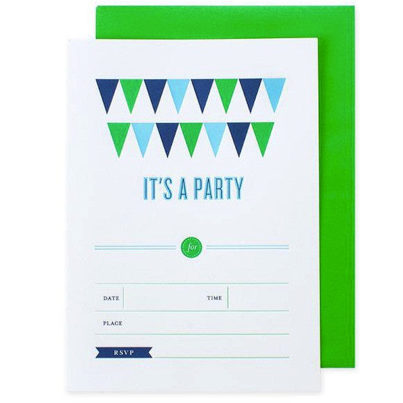 Banner Invitations - Green