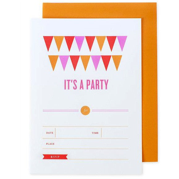 Banner Invitations - Orange