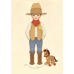 Belle & Boo Dress Up Sticker Card - Ellis Cowboy