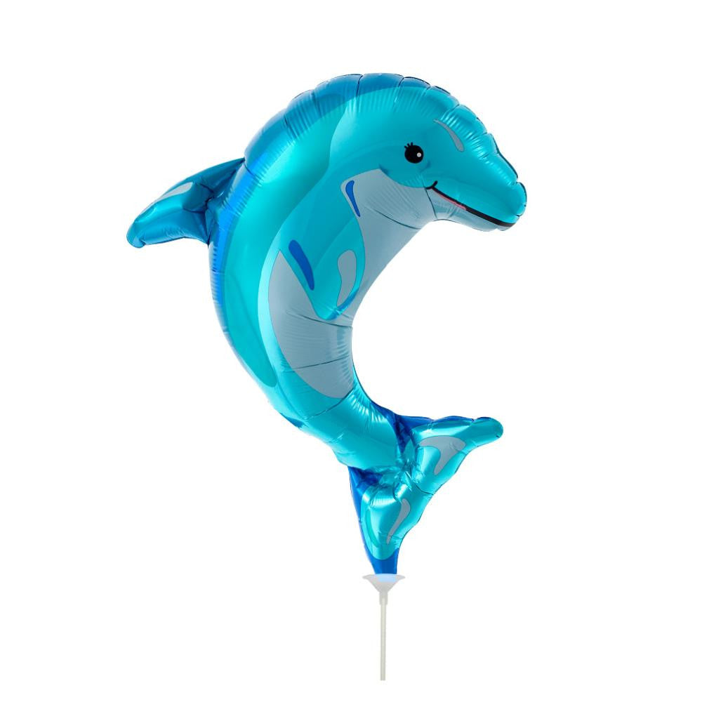 Blue Dolphin Balloon On A Stick