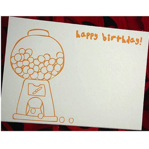 Gumball Birthday Card