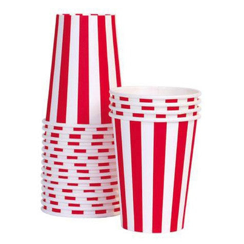 Candy Cane Paper Cups