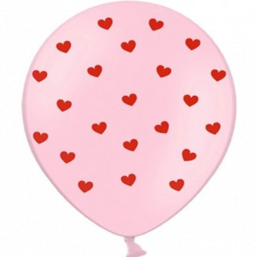Pastel Pink Heart Balloons