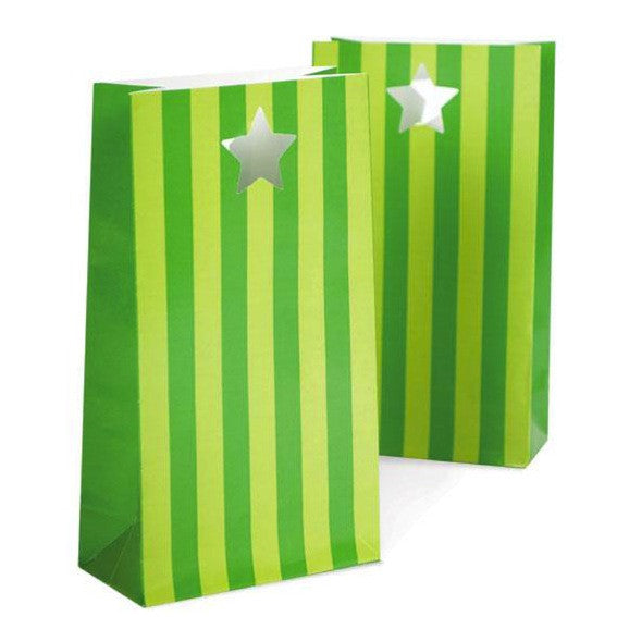 Apple Green Favor Bags