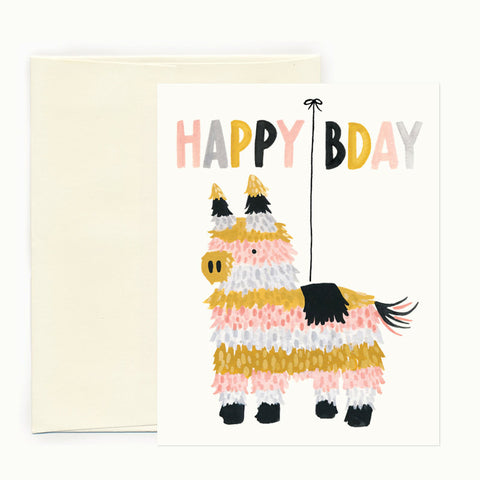 Piñata Birthday Card