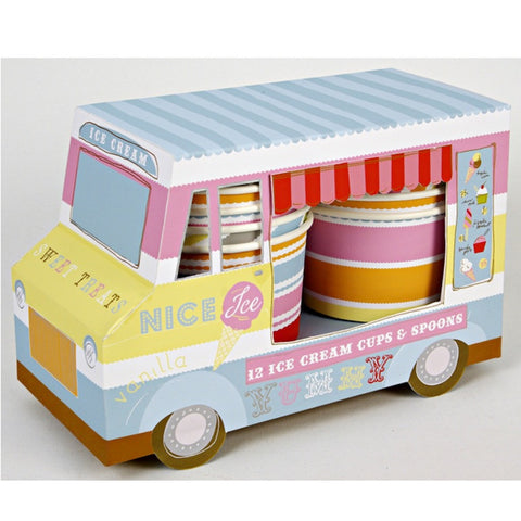Ice Cream Van - Ice Cream Cups & Spoons