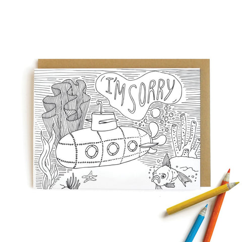 Submarine Sorry Card
