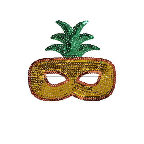 Sequin Pineapple Mask