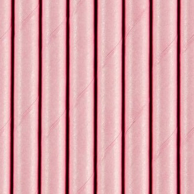 Paper Straws - Light Pink