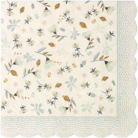 Blue Flower Field Napkins