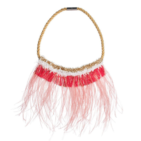 Magical Feather Fringe Necklace