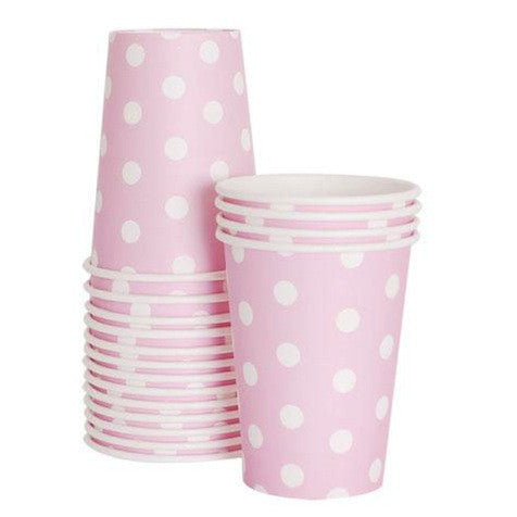 Marshmallow Pink Paper Cups