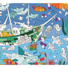 Giant Ocean Coloring Poster