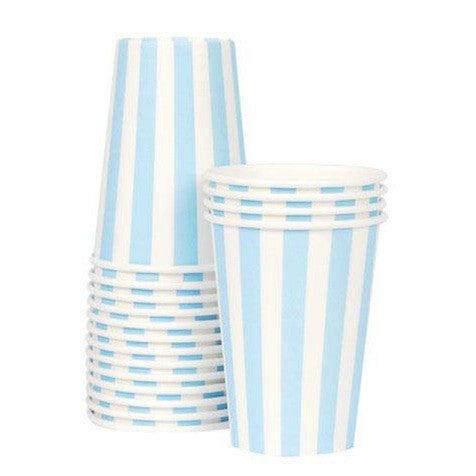 Powder Blue Paper Cups