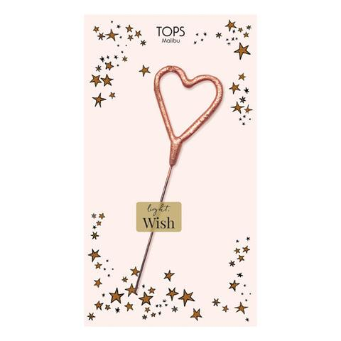 Mini Rose Gold Heart Sparkler Card