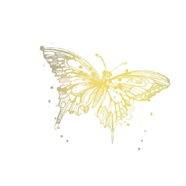 Gold Butterfly Tattoos