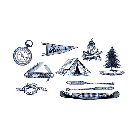Camping Tattoo Set