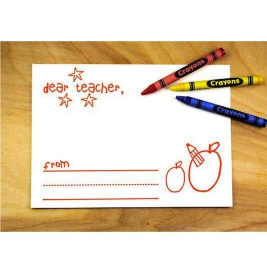 Dear Teacher Card