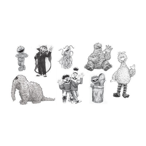 The Sesame Street Nostalgia Tattoo Set