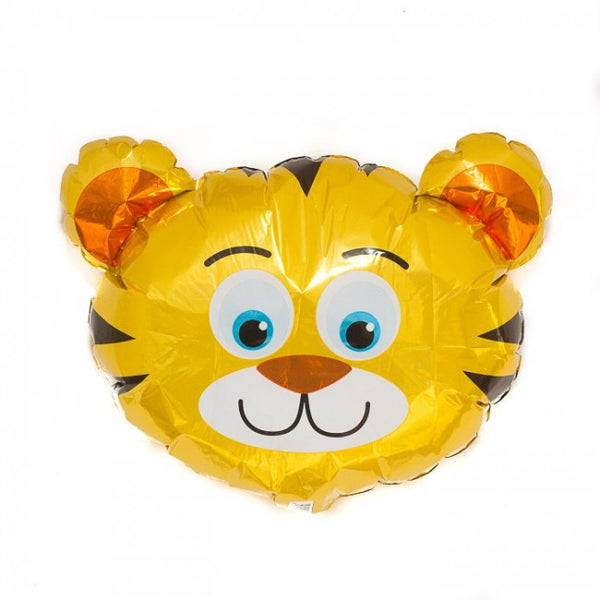 Tiger Head Balloon On A Stick