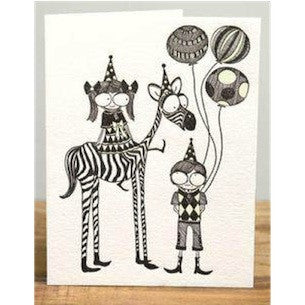 Zebra Parade Card