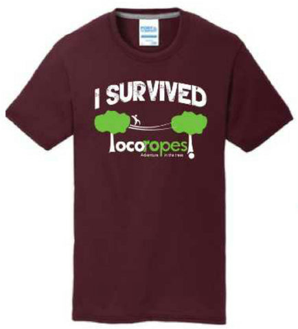 TShirt I Survived LR! - Loco Ropes!