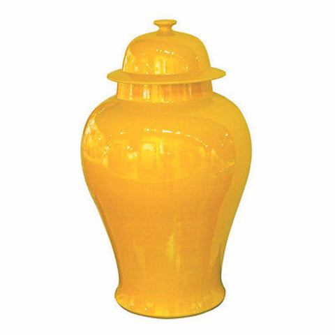 Beautiful Yellow Color Porcelain Temple Jar 18""