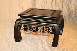 "Beautiful Wooden Square Platform Stand 4.5"" to 8.5"""