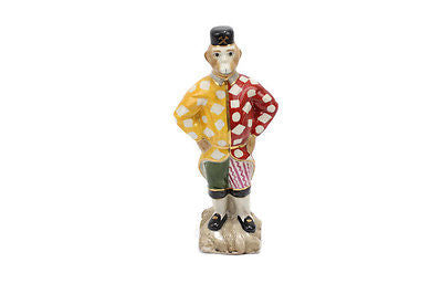 Cute Decorative Chinese Porcelain Monkey Jester Hat Figurine 10.5""