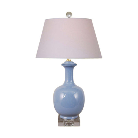 Cute Sky Blue Porcelain Vase Jar Table Lamp 21""