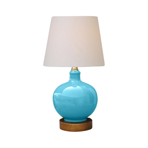 Beautiful Baby Blue Porcelain Vase Table Lamp 13""